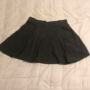 H&M Circle Skirt, Gray, Large, above the knee
